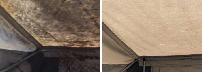 Camper trailer mould on roof