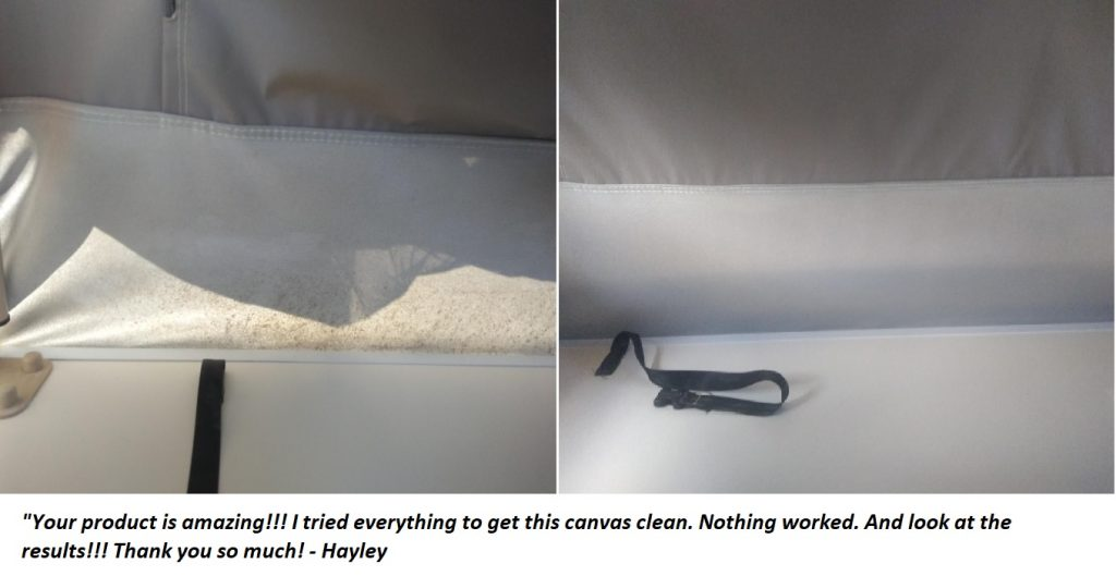 remove mould off canvas product